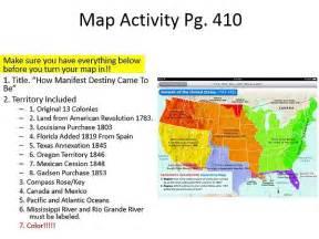 us geography map activity foxamericanhistory manifest destiny map activity
