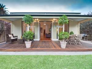 multi level outdoor living design with bbq area