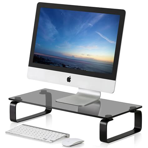 computer desk tv stand fitueyes computer monitor riser led tv stand shelf desktop