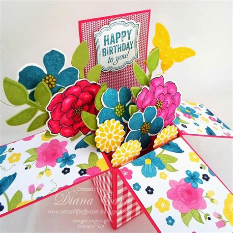 Diy Papercraft Pop Up Card Bunga Pansy 677 best images about card in a box on