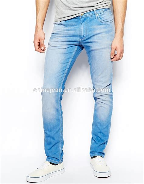 comfortable jeans mens 2015 oem comfortable blue slim wash new style fashion men