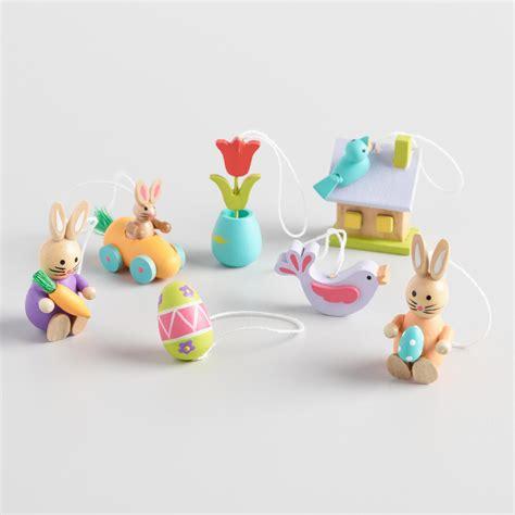 wood mini easter ornaments world market