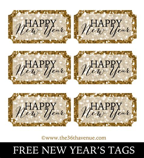 printable new year tags new years party donuts and printable the 36th avenue