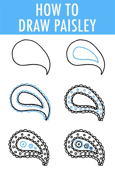 simple drawing patterns how to draw paisley in 6 easy steps drawing projects