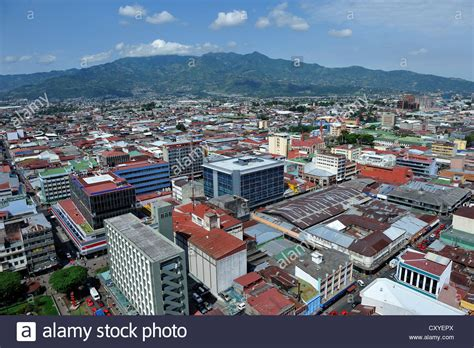 buy a house in san jose aerial view view of the city centre of san jose costa rica latin stock photo