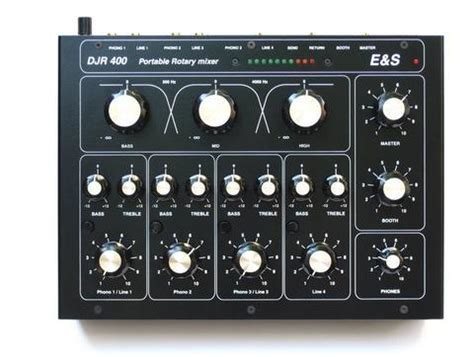 Mixer Audio Black Spider hire e s djr 400 4 channel rotary mixer bounce audio