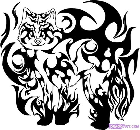 tribal wolf coloring page how to draw tribal wolf art step by step tribal art pop