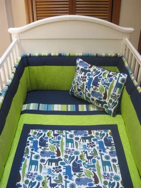Baby Boy Blue Crib Bedding Pretty Green And Blue Baby Boy Bedding For The Home Pinterest