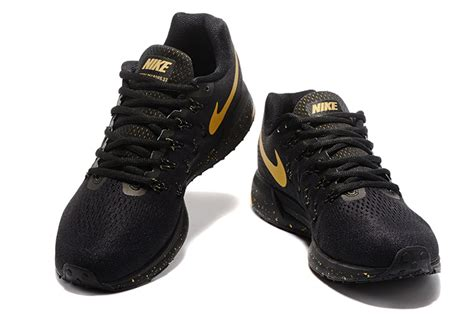 Sepatu Nike Zoom Pegasus Casual Sporty Staylish fashion nike zoom pegasus 33 s breathable casual running shoes 880103 007 black gold