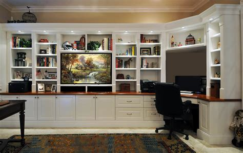 built in wall unit with desk and tv office custom furmiture we are based in orlando florida