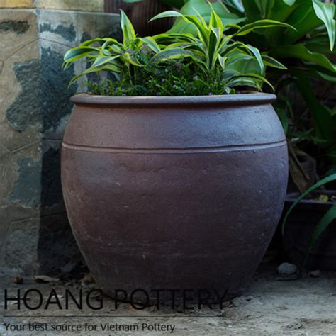 Clay Planters by Quality Black Clay Pot Outdoor Decor Hphp066 Hoang