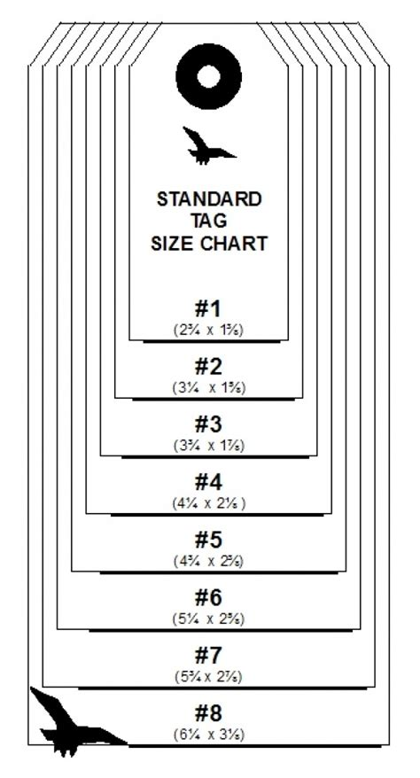 Tag For Standard Size Of Tags 8 Standard Tag Sizes