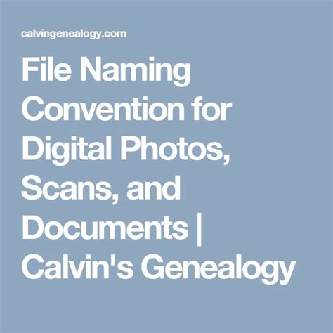 File Naming Conventions For Electronic Documents