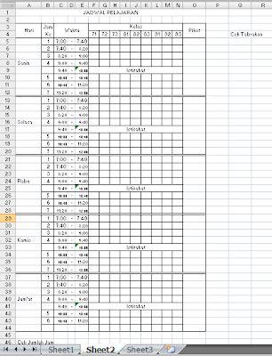 membuat jadwal kegiatan dengan excel membuat jadwal pelajaran dengan bantuan ms excel 2