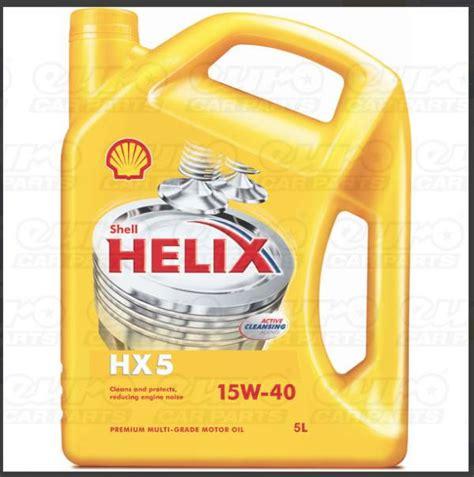 Shell Helix Hx5 shell helix hx5 15w40 engine 5 litre ebay