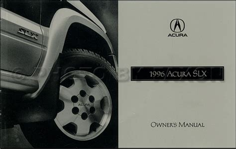 auto repair manual online 1996 acura slx electronic toll collection 1996 1997 acura slx electrical troubleshooting manual original