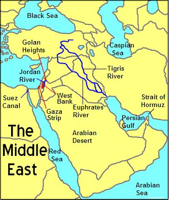 middle east map euphrates river this picture shows the different physical features of