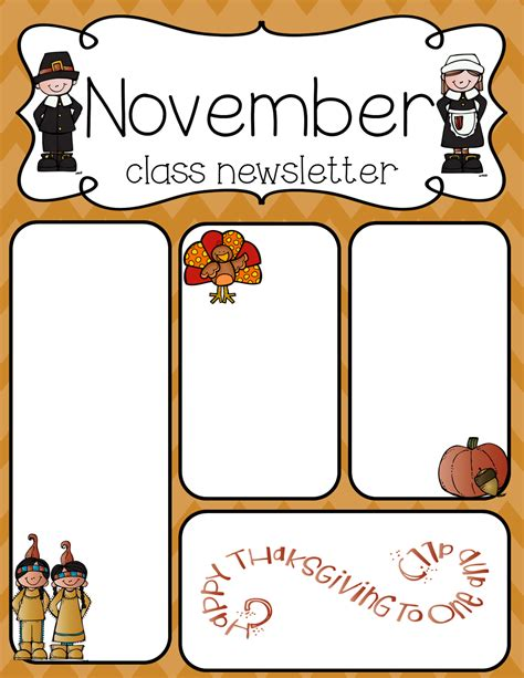 November Newsletter Template simply delightful in 2nd grade