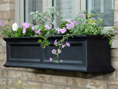 black window boxes planters  prestige collection