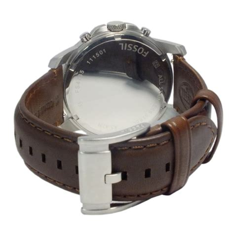 Reel Mitsui Fosil New Goods Fossil Grant Quarts S Chronofs4813 Brown