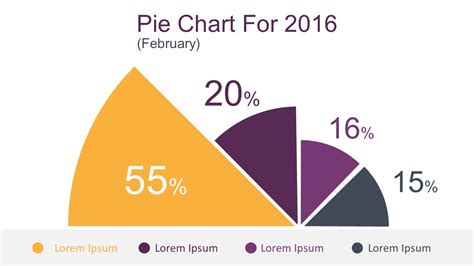 pie chart template powerpoint flat infographic charting elements for powerpoint