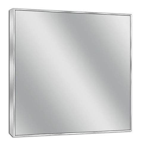 Brushed Nickel Framed Bathroom Mirror Buy Spectrum 30 Inch X 36 Inch Rectangular Framed Wall Mirror In Brushed Nickel From Bed Bath