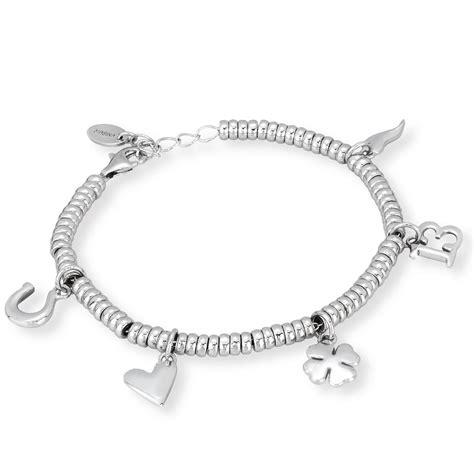 bracciali porta fortuna bracciale in argento con charms porta fortuna gioielloro