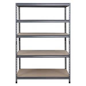 shelving at lowes shop workpro 72 in h x 48 in w x 24 in d 5 tier steel