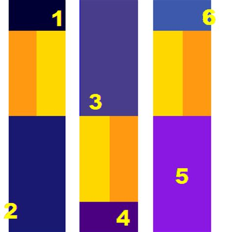 what colors go with yellow medium to dark blue complementary colors