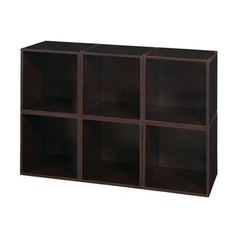 6 Cube Shelf by Niche Cubo 6 Cube Storage Set In Truffle 502536