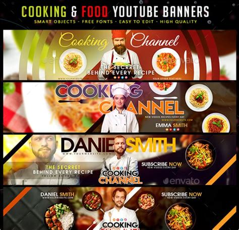 youtube banner template psd  channel art texty cafe