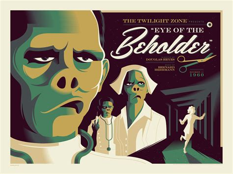 eye of the beholder twilight zone poster series by tom whalen and dark hall mansion collider