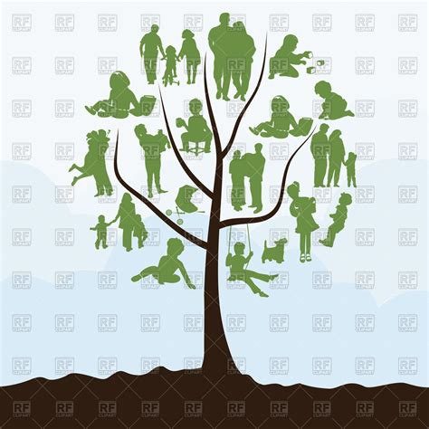 Family Tree With People Instead Of Leaves Vector Image Vector Artwork Of People 169 Aleksander1 Family Tree Clip Vector