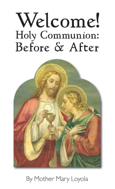 welcome holy communion before and after gt books