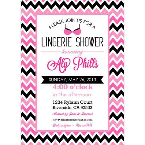 lingerie bridal shower bachelorette party invite dimple