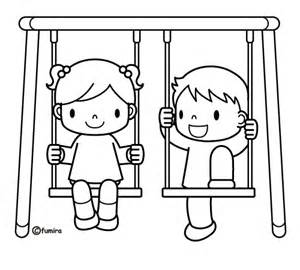 coloring set swing set coloring pages for printable