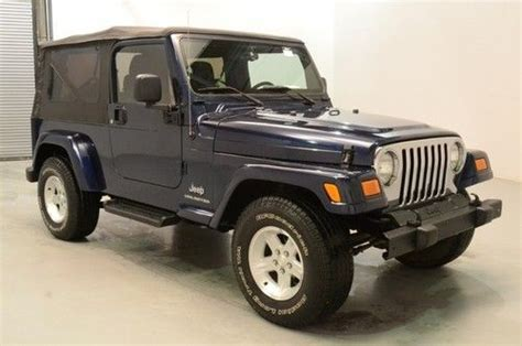 2006 Jeep Wrangler Soft Top Find Used 2006 Jeep Wrangler Unlimited Manual Soft Top