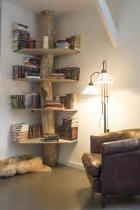 Faire Une Bibliotheque Murale #3: 0-jolis-étagères-d-angle-interieur-idee-etagere-leroy-merlin-en-bois-brut-pour-le-salon.jpg