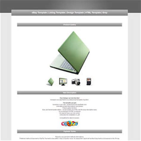 ebay item description template ebay template listing template design template html