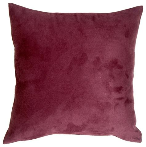 Wine Colored Throw Pillows by Pillow Decor 18 X 18 Royal Suede Wine Throw Pillow