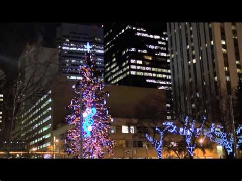 epcor lights up the edmonton christmas tree in churchill