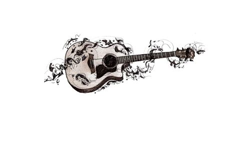 guitar tattoo sketch by mssmime on deviantart