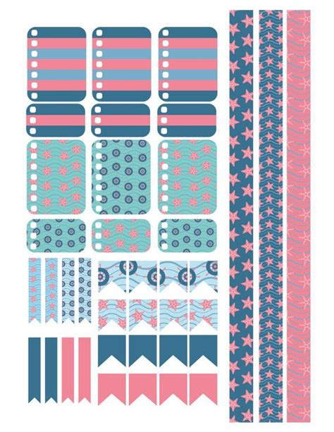 printable nautical stickers summer nautical planner stickers printable by