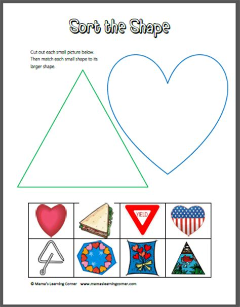 best photos of cut and paste shapes printables cut and