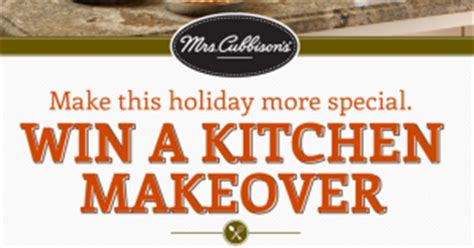Mrs Cubbison S Sweepstakes - mrs cubbison s win a kitchen makeover sweepstakes win a 3 000 home depot gift card