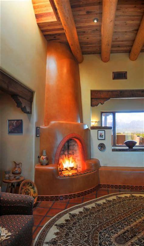 Kiva Style Fireplace by Kiva Fireplace Decorating Ideas
