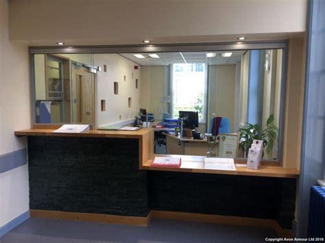 reception desk security screens avon armour sliding screens reception counters hospital