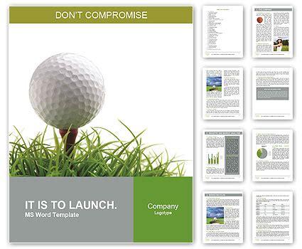 golf ball on the green grass word template design id