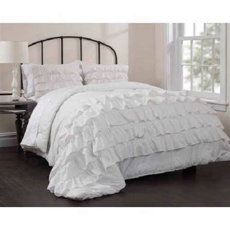 ruffle comforter set queen ruffle bedspread comforter set queen full size white chic