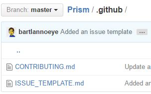 github issue template bart lannoeye pimping your github project